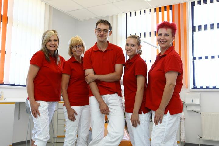 Team der Zahnarztpraxis Jendrek in Jena Kompetenz Zähne.