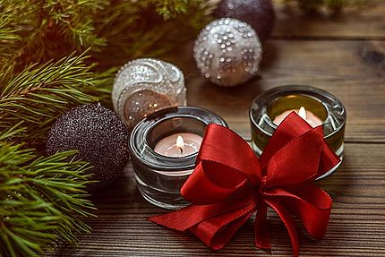 Zwei Kerzen zum Nikolaus und Zweiter Advent